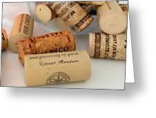 Corks Greeting Card by Cheryl Young