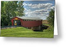 Covered Bridge In Ohio Greeting Card by Pamela Baker