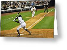 Curtis Granderson Greeting Card by Andrew  Cragin