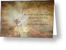 Discover Your Own Inner Gifts Greeting Card by Leanne M Williams