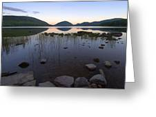 Eagle Lake Dusk Reflections Greeting Card by Stephen  Vecchiotti
