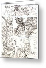 Eowyn Vs. Nazgul Pg 2 Greeting Card by Storn Cook