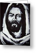 Face Of Christ Ccsa Greeting Card by Larry Cole