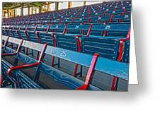 Fenway Bleachers Greeting Card by Michael Yeager