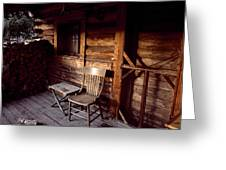 Firewood And A Chair On The Porch Greeting Card by Joel Sartore