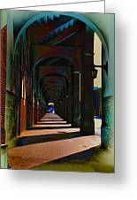 Franklin Field Concourse Arch Greeting Card by Bill Cannon