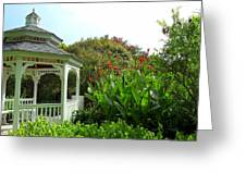Gazebo Flower Garden Greeting Card by Sheri McLeroy