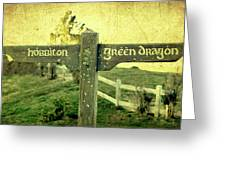 Hobbiton Signage Greeting Card by Linde Townsend