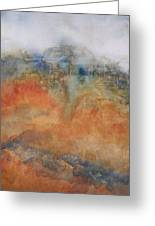 House On The Hill Greeting Card by Sandy Collier