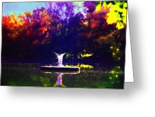 Lake Angel St. Mary's Ambler Greeting Card by Bill Cannon