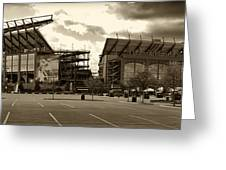 Lincoln Financial Field Greeting Card by Jack Paolini