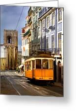 Lisbon Tram Greeting Card by Carlos Caetano