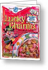 Lucky Charms Greeting Card by Russell Pierce