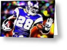 Magical Adrian Peterson Greeting Card by Paul Van Scott