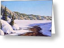 March Thaw Greeting Card by Rick Hansen