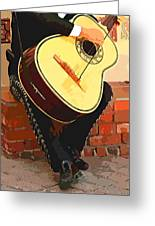 Mariachi Guitarron Greeting Card by Cheryl Young