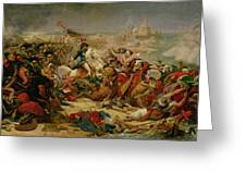 Murat Defeating The Turkish Army At Aboukir On 25 July 1799 Greeting Card by Baron Antoine Jean Gros