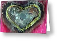 My Heavy Heart Greeting Card by Jane Clatworthy
