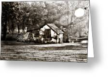 Narcissa Road Springhouse Greeting Card by Bill Cannon