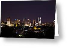 Nashville Cityscape 4 Greeting Card by Douglas Barnett
