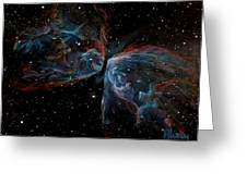Ngc 6302 Butterfly Nebula Greeting Card by Alizey Khan