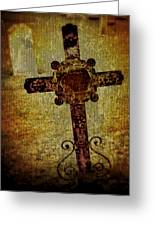 Old Cross Greeting Card by Perry Webster