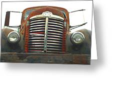 Old International Gravel Truck Greeting Card by Randy Harris