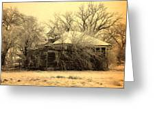 Old School House Greeting Card by Julie Hamilton