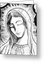 Our Lady Greeting Card by Jeffrey Kyker