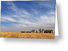 Prarie House Greeting Card by Peter Tellone