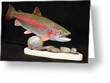 Rainbow Trout On The Rocks Greeting Card by Eric Knowlton