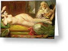 Reclining Odalisque Greeting Card by Theodore Chasseriau