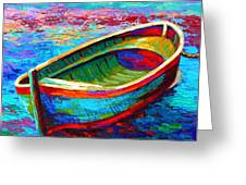 Riviera Boat I Greeting Card by Marion Rose