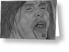 Sexy Steven Tyler Portrait Greeting Card by Jeepee Aero
