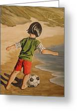 Soccer Child Greeting Card by Marilyn Jacobson