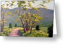 Spring Valley Trail Greeting Card by Rick Hansen