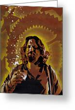 The Dude Greeting Card by Tai Taeoalii