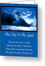 The Sky Is The Limit Greeting Card by Andee Design