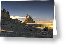 This Is New Mexico No. 2 - Shiprock World Wonder Greeting Card by Paul W Sharpe Aka Wizard of Wonders