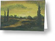 Tuscan Dusk 2 Greeting Card by Shelby Kube
