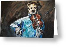 Violinist1 Greeting Card by Denise Justice