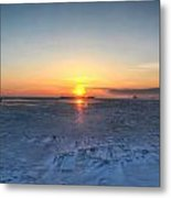 0012 Even On Our Coldest Days We Still Get Blessed With Gorgeous Rays Series Metal Print by Michael Frank Jr