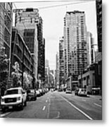 high rise apartment condo blocks in the west end west pender street Vancouver BC Canada Metal Print by Joe Fox