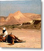 In The Desert Metal Print by Jean-Leon Gerome