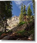 Steep Mountain Hike Metal Print by Michael J Bauer