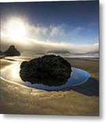 The Rock Metal Print by Debra and Dave Vanderlaan