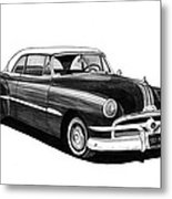 1951 Pontiac Hard Top Metal Print by Jack Pumphrey