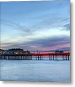 Cromer Pier At Sunrise On English Coast Metal Print by Fizzy Image