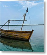 Lonely Boat Metal Print by Jean Noren