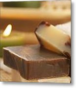 Natural Soaps Metal Print by Mythja  Photography